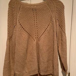 Sferra Tan open knit sweater